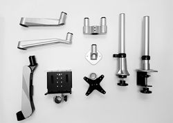 Various Parts of Infinite Modular Monitor Mount