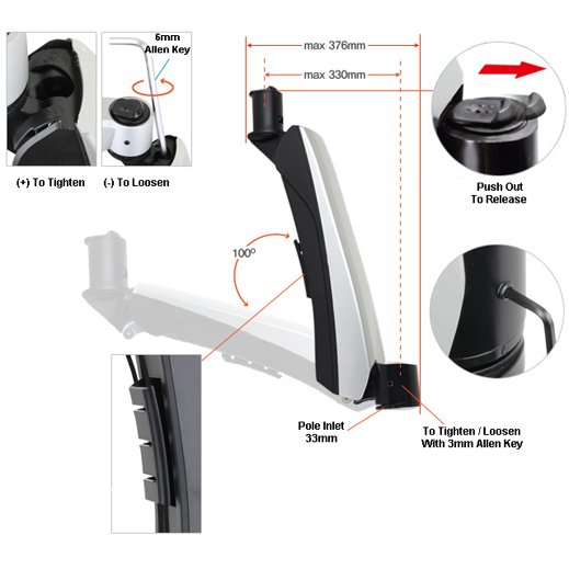 Infinite Monitor Arm Spring Specs