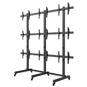 Video Wall TV Stand Freestanding VM303 3x3 Side