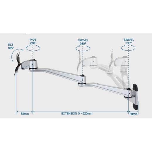 Infinite Monitor Arm Dual Swivel Specs