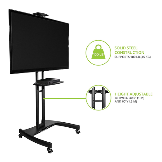 Mobile TV Stand Cart T2 Front