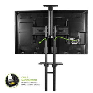 Mobile TV Stand Cart T2 Cable Management