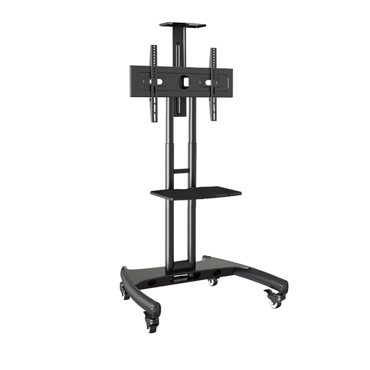 Trak Mobile TV Stand Cart T2D Front Double Tray