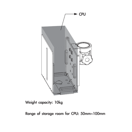 Infinite Monitor Arm CPU Holder C0010 Dimensions