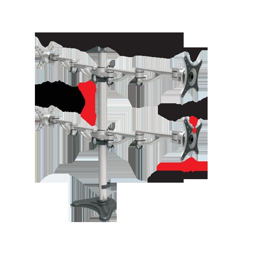 Trak Monitor Arm BD800 Dimensions