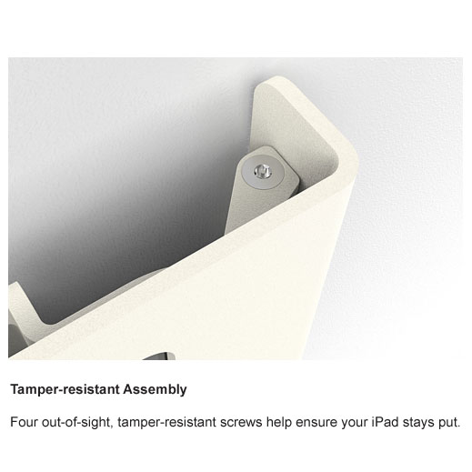 Wall Mount with POE for iPad Air and iPad Pro Tamper Resistant
