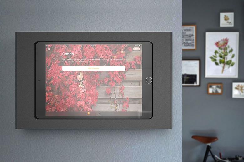 iPad Mini Wall Mount with POE on wall 3