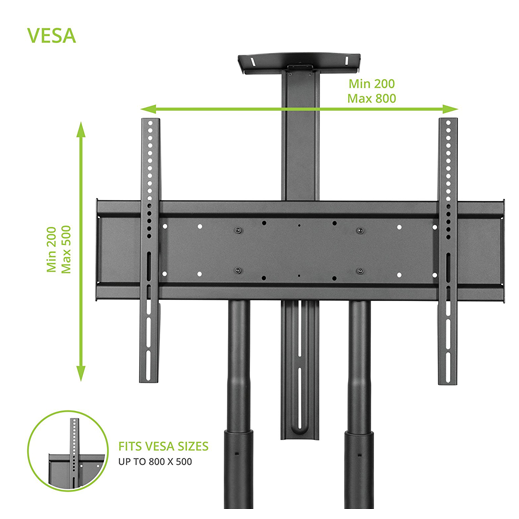 Mobile TV Stand Cart T81 Vesa