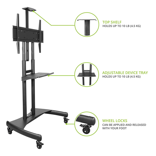 Mobile TV Stand Cart T81 Details