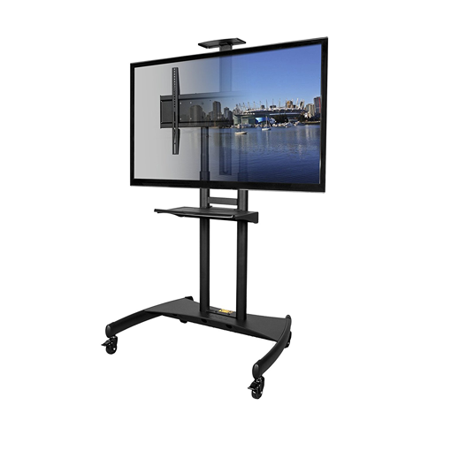 Mobile TV Stand Cart T81 See Through
