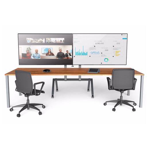 Dual AV Cart H493 in Office Setup