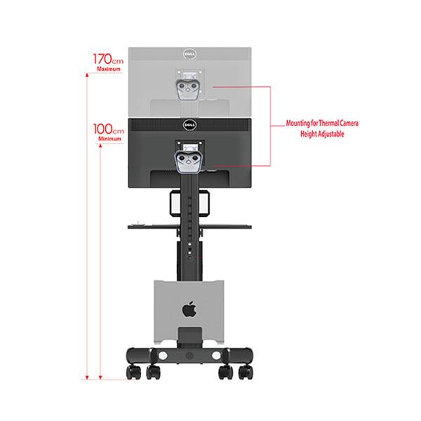 Mobile TV Stand Cart T4 Vesa