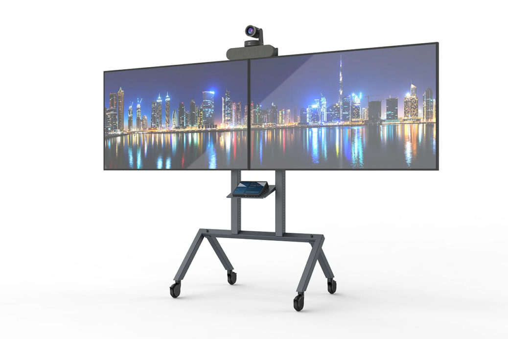 Heckler AV Cart Prime with Dual Display