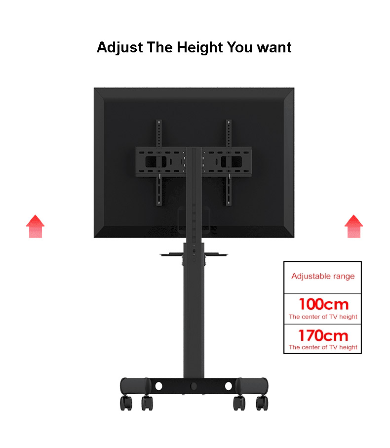 Mobile TV Stand Trak T5, Screen Size 55 Inch LED